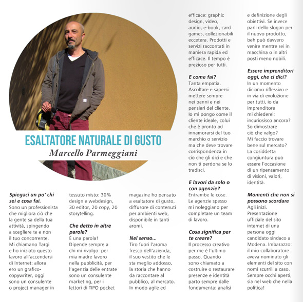 Una mia intervista su TIPO Pocket Magazine
