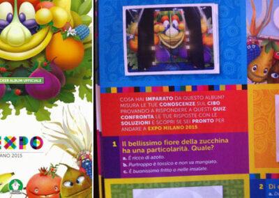 Testi per l'album di figurine di Expo 2015