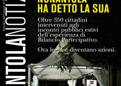 Redazione e impaginazione giornale comunale