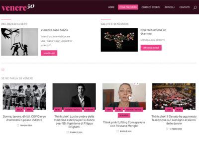 Sito web e social per Venere 50